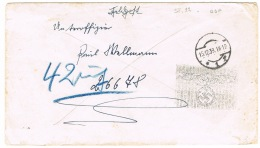 RB 1087 - 1939 Germany WWII Military Feldpost Cover With Unusual Scarce Nazi Postal Cachet - Germany