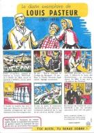 """Le Destin Exemplaire De Louis PASTEUR Buvard N° 6 -   """"Santé Sobriété"""" - Buvards, Protège-cahiers Illustrés"""