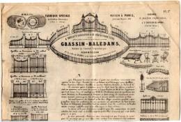 VP4330 - Document Commercial De 4 Pages - Fabrique De Grilles GRASSIN - BALEDANS à PARIS Usine à SAINT SAUVEUR LEZ ARRAS - France