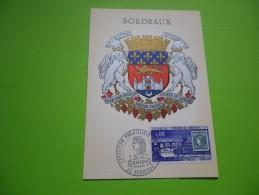 FRANCE (1970) Exposition Philatélique BORDEAUX - Cartoline Maximum