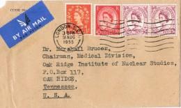 17681. Carta Aerea  LONDON 1955 (england). Perforado Comercial, Perfin, Firmenlung - 1952-.... (Elizabeth II)