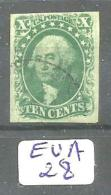 EUA Scott  14 Green Type II YT 7 # - Used Stamps