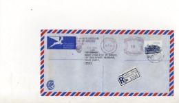 Afrique Du Sud Enveloppe Recommandee Du 18 Avril 1985 De Durban Pour Paris - South Africa (1961-...)