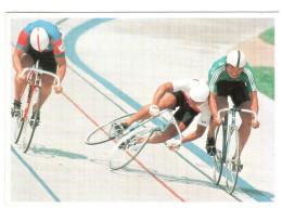 CPM CYCLISME VELO  CYCLISTE FAISANT UN CROCHET CHUTE HUMOUR A LA CARTE AGENCE  VANDYSTADT - Cyclisme