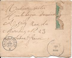 Enveloppe   Datant De 1888 Envoyée à GRAY  Haute Saone - 1800 – 1899