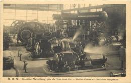 SOCIETE METALLURGIQUE DE NORMANDIE - Station Centrale, Machines Soufflantes. - Zonder Classificatie