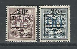 Belgie COB** 941-942 - Unused Stamps