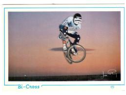 CPM COUREUR CYCLISTE CYCLISME VELO BI CROSS FIGURE SEUL SIGNEE ED AS - Cyclisme
