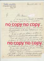 Lettre Originale Décembre 1959  De Albert Patrisse Sculpteur Né à Fresnes Sur Escaut - Candidature De Cardot Professeur - Autographs