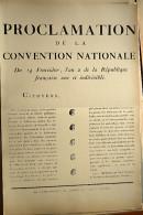 AFFICHE REVOLUTION. FAC-SIMILÉ - 7 -  PROCLAMATION DE LA CONVENTION NATIONALE DU 14 FRUCTIDOR, L´AN 2  DE LA RÉPUBLIQUE, - Affiches