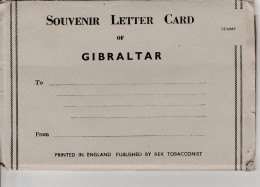 Gibraltar - Souvenir Letter Card  - 7 Views ( Format Cpa 14X9 Cm) - Gibilterra