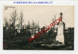 SARREBOURG-Saarburg-CIMETIERE-Tombes-Carte Photo Allemande-Guerre 14-18-1 WK-FRANCE-57-Militaria- - Sarrebourg