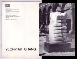 Catalogo Mostra YEON-TAK CHANG. Il Mercante Galleria D´arte Contemporanea MILANO. Galleria Nuovo Spazio 2 VENEZIA 1980 - Livres, BD, Revues