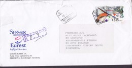 Spain SERVAIR Eurest Registered Certificado Label AEROPUERTO BARCELONA 1999 Cover Letra Denmark ATM / Frama Label - Poststempel - Freistempel