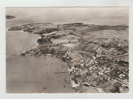 CPSM LOCMARIAQUER (Morbihan) - Vue Aérienne Le Bourg Et Pointe De Kerpenhir - Locmariaquer