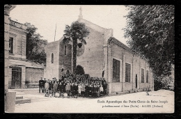 CPA ANCIENNE- ALEX (26)- ECOLE APOSTOLIQUE DES PETITS CLERCS DE ST-JOSEPH- CHAPELLE- TRES BELLE ANIMATION DEVANT- GROUPE - Frankreich