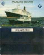 Telefonkarte Falkland Islands - Schiff , Ship - 3CWFA