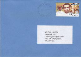 Spain MADRID Tres Cantos 1998 Cover Letra Denmark Frederico Garcia Lorca ATM 7 Frama Label - Poststempel - Freistempel