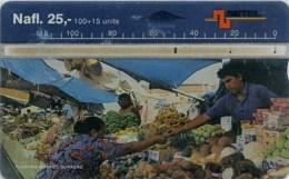 Opt. Telefonkarte Curacao - Floating Market - 703C - Antilles (Netherlands)