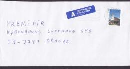 Norway A PRIORITAIRE Par Avion Label EIDSVOLD 1997 Cover Brief Denmark Kirche Von Røros Stamp - Norwegen
