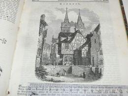 Boppard Germany Engraving Print 1838!!! - Prints & Engravings