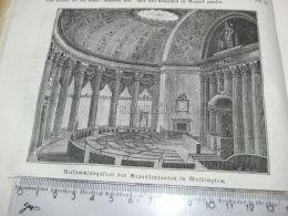 Washington USA America Engraving Print 1838!!! - Prints & Engravings