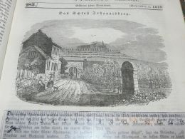 Schloss Johannisberg Germany Engraving Print 1838!!! - Stampe & Incisioni