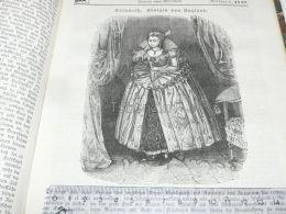 Queen Elisabeth England Engraving Print 1838!!! - Prints & Engravings