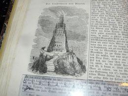 Alexandria Egypt Pharos Light Tower Engraving Print 1838!!! - Prints & Engravings