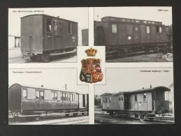 Post-Eisenbahnwaggons(alte)-Briefmarkenausstellung Hafnia 1976 Mit Stempel Hafnia Auf Briefmarke Bahnhof Kopenhagen - Sammlerbörsen & Sammlerausstellungen