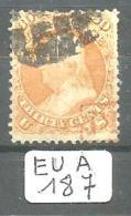 EUA Scott  71 Orange Red PD Cancel YT 25 # - Used Stamps