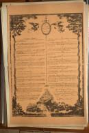 AFFICHE REVOLUTION. FAC-SIMILÉ - 19 - LES VINGT CINQ PRECEPTES DE LA RAISON - Affiches