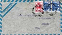 ARGENTINIEN 1950? - 3 Fach Frankierung Auf LP-Brief Von Buenos Aires Gel.n.Basilea Schweiz - Argentinien