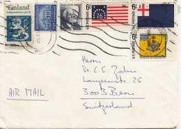 USA 1968 - 6 Fach Frankierter Firmen-Brief (Hotel Columbia Co.) Gel.nach Bern/Schweiz - Vereinigte Staaten