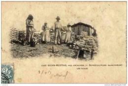 33 Gujan-Mestras Près Arcachon-Ostréiculteurs Blanchissant Les Tuiles.Dos Non Divisé. HUITRES - Gujan-Mestras