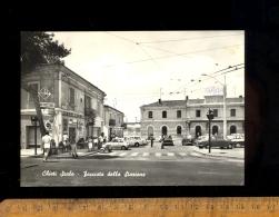 CHIETI Abruzzo : Stazione / Auto Fiat 500  850  Scooter Vespa Caffe Roma Pepsi Cola Sign - Chieti