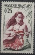 POLYNESIE FRANCAISE Poste  1 ** Sg : Vahiné De Tahiti Avec Guitare Hawaïenne - Unused Stamps