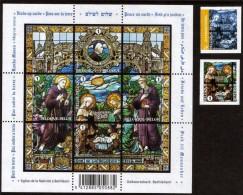 Belgium**CHRISTMAS 2008-MONKS-CHURCH GLASS WINDOWS-SHEET 5stamps+2vals From Booklets-MNH-Nativity-Noel-Weihnachten-Kerst - Bélgica