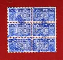 Italia ° - 1981 - Pacchi In Concessione, Lire 900 X 3  Unif. 21.  3 Coppie  Integre.    USATI.  Vedi Descrizione   ( F ) - Colis-concession