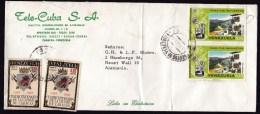 Venezuela: Cover To Germany, 1974, 4 Stamps, Heraldry, Houses (fold!) - Venezuela