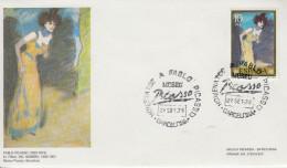 Enveloppe  FDC   1er    Jour    ESPAGNE    Oeuvres  De   PICASSO    BARCELONA   1978 - Picasso