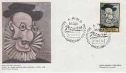 Enveloppe  FDC   1er    Jour    ESPAGNE    Oeuvres  De   PICASSO     1978 - Picasso