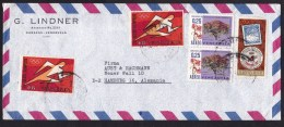 Venezuela: Airmail Cover To Germany, 5 Stamps, Olympics, Tree, Philately (damage To 2 Stamps!) - Venezuela