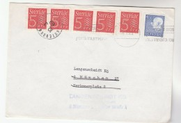 1969  SWEDEN Multi Stamps COVER To GERMANY REDIRECTED - Sweden