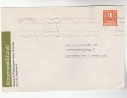 1967 SWEDEN Sundbyberg ADVERT COVER To Germany, Stamps - Sweden