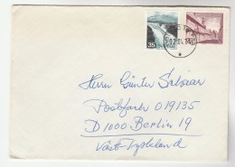 1974 SWEDEN COVER Stamps WATERFALL, , YSTAD To Germany - Sweden