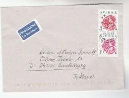 1999 SWEDEN COVER Stamps Brev BIRDS To GERMANY Bird Airmail Label - Sweden
