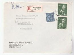 1999 REGISTERED Jakobsberg SWEDEN COVER Multi Stamps ALMQVIST Composer Music Literature - Music