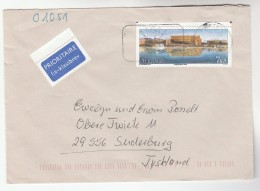 Priority SWEDEN Stamps COVER To Germany Airmail Label - Covers & Documents