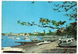 TANZANIA - DAR ES SALAAM HARBOUR / SHIPS / WITH KENYA THEMATIC STAMP - MINERAL - Tanzania